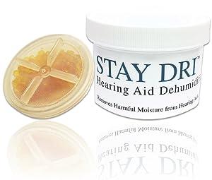 Stay Dri Hearing Aid Dehumidifier - Includes Free Liberty Keychain Hearing Aid Battery Holder
