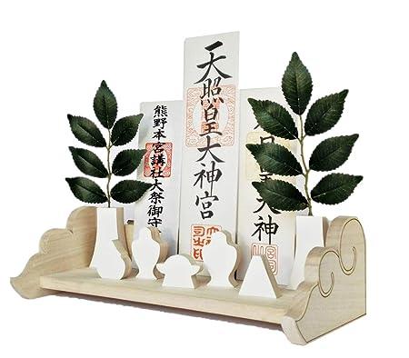 【amtea(アムティー)】モダン神棚 雲形の神棚 壁掛け神棚 はじめての神棚セットNegai(ねがい) 賃貸 石膏ボード壁に配慮した 神棚KUMO-L30