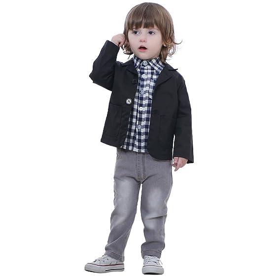 Amazon.com: IDGIRL Kids Tuxedo Suit Gentleman Formal Wear Baby Boy ...