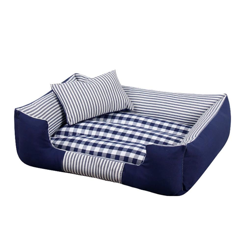 bluee Small bluee Small DAN Washable Premium Dog and Cat Bed Puppy and Kitty Orthopedic Pet Sofa Bed with Removable Washable Cover