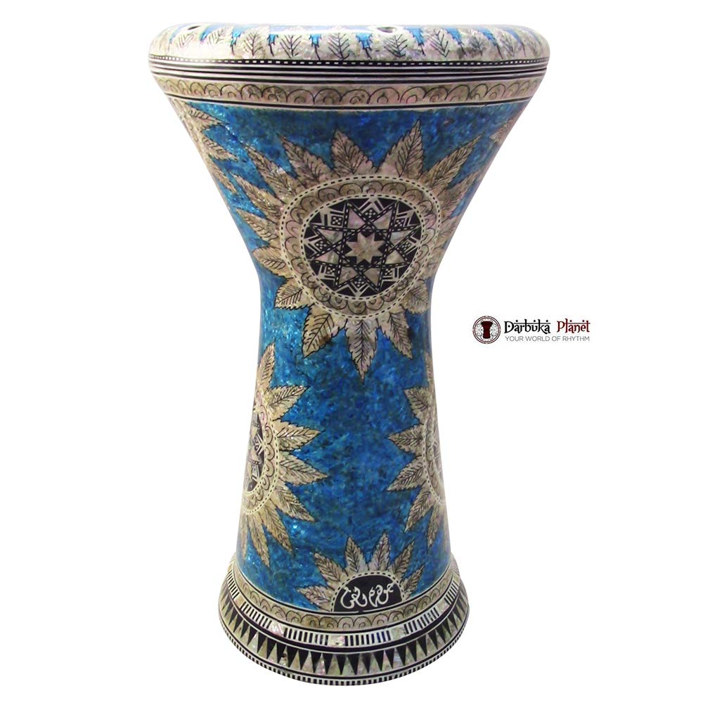 Gawharet El Fan 21'' Sea Star NG Sombaty XL Mother of Pearl Darbuka Doumbek Drum by Gawharet El Fan