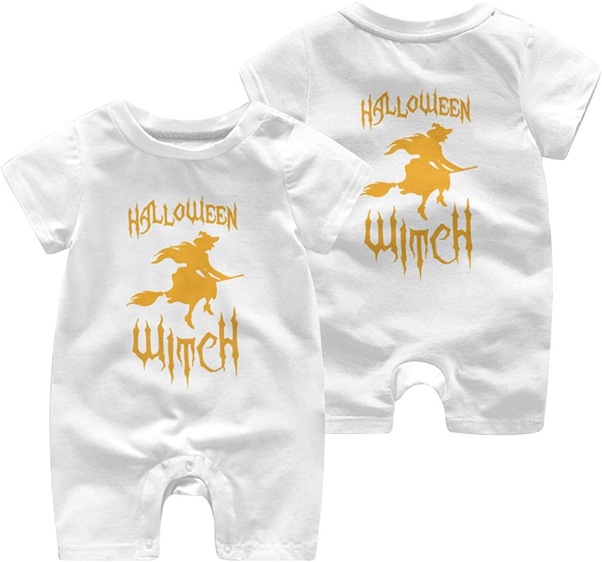 Toddler Baby Boy Girl Coverall Witch Scary Silhouette Halloween Kid Pajamas