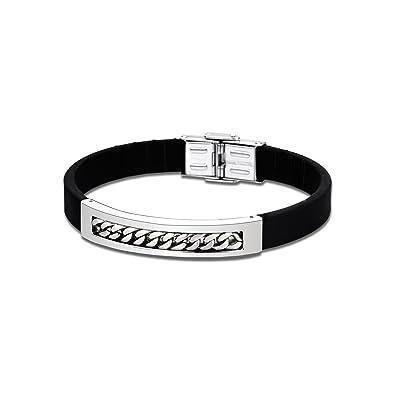 5fda3581a63f Lotus Style pulsera para hombre Men basic-colección acero inoxidable plata  JLS1646 - 2-1  LOTUS Style  Amazon.es  Joyería