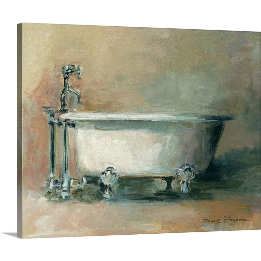 Marilyn Hagemanプレミアムシックラップキャンバス壁アート印刷題名ヴィンテージ浴槽II 20