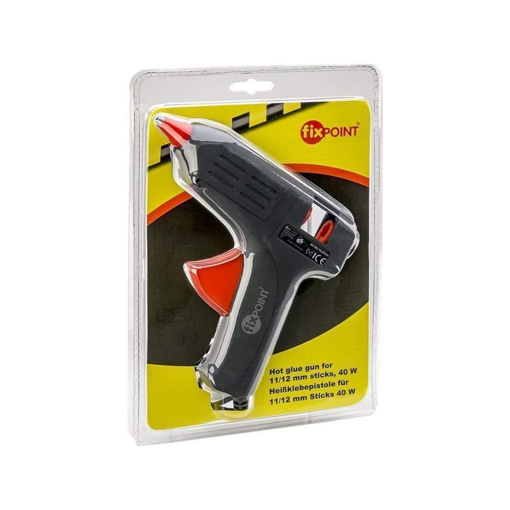 und Heimbereich schwarz Fixpoint 59175 10W mini Hei/ßklebepistole f/ür 8mm Klebesticks zum sauberen Kleben den Hobby