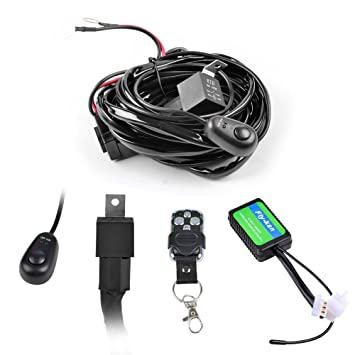 61ESQze7M6L._SY355_ amazon com fly kan 300w wiring harness for led light bar 12v Off-Road Light Wiring Harness at aneh.co