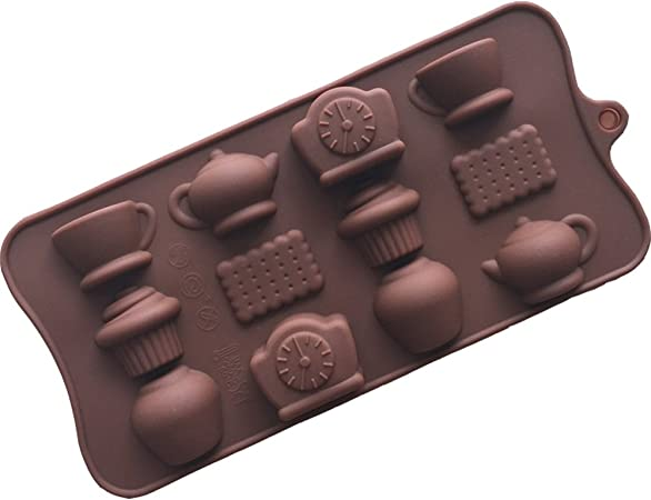 12 Cafe Theiere Glaces Biscuits Silicone Cake Moule Plateau