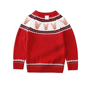 5557ece9a15f Girls Sweater Christmas Sweaters for Girls Knitted Kids Sweater Design Baby  Poncho Girls Pullover  Amazon.co.uk  Clothing