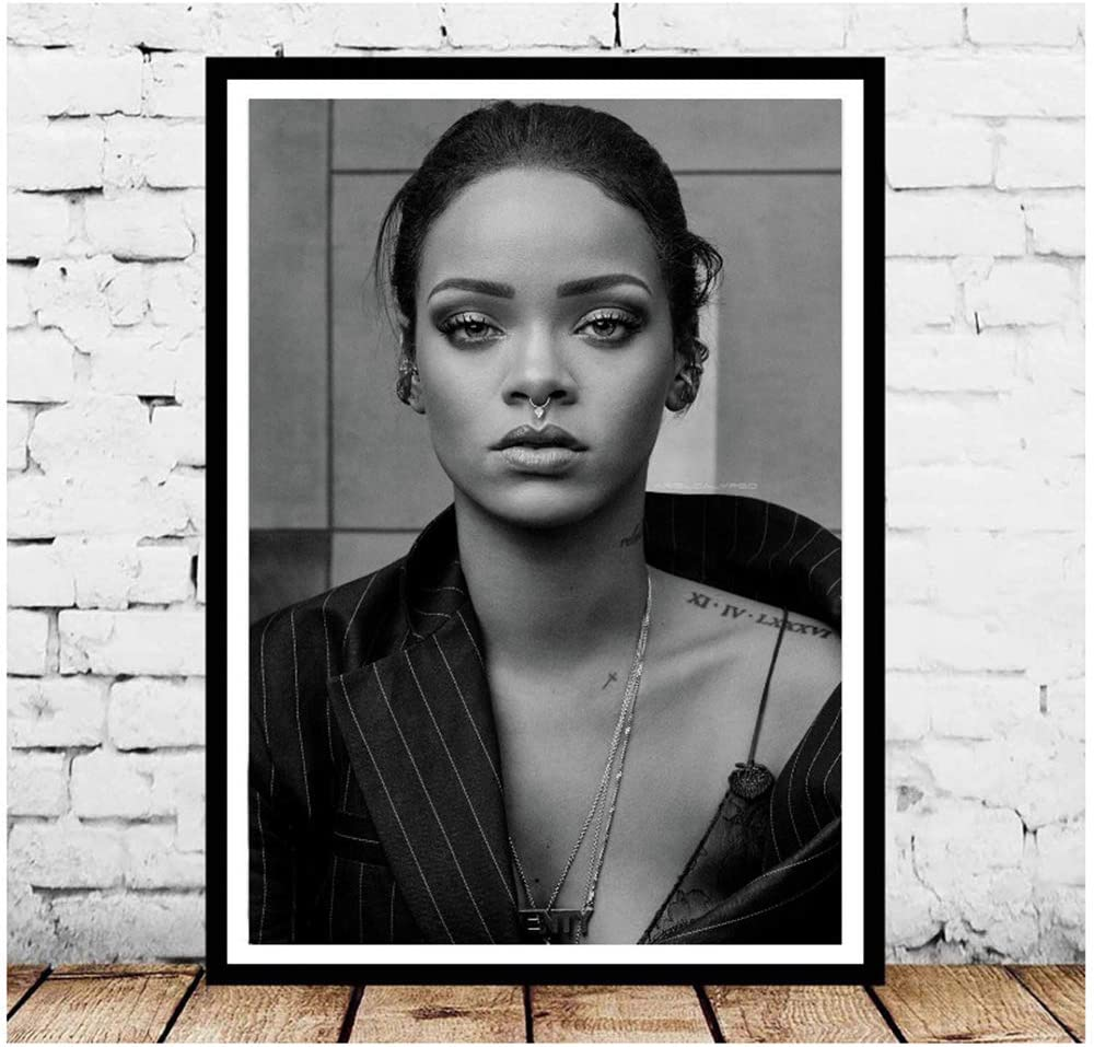 RIHANNA MUSIC ICON CANVAS PRINT POP ART PICTURE READY TO HANG