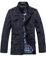 JYG Men's Waterproof Field Jacket Lightweight Windproof Windbreaker