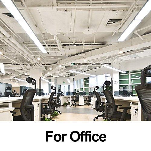 FaithSail 4FT LED Wraparound Garage Shop Lights - 40W 4400lm 4000K Neutral White - 4' LED Wrap Light Flush Mount Linear Office Ceiling Lighting, 4 Foot Fluorescent Light Fixture Replacement, 8 Pack by FAITHSAIL (Image #4)