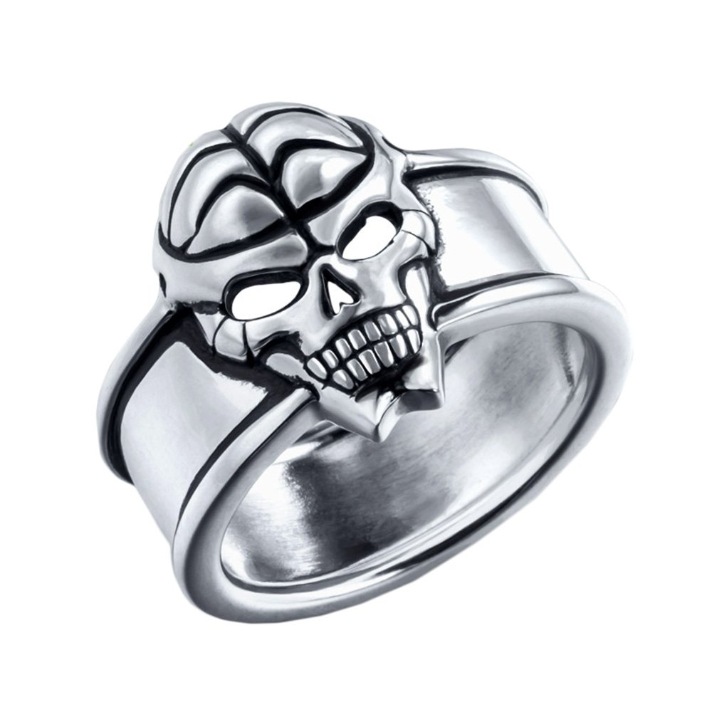 Rain's Pan Anime Ling Yu Cosplay Ghost Ring with Skulls 925 Silver Ring