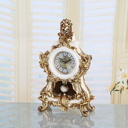 Relojes de decoración retro para el hogar estilo europeo relojes de movimiento silencioso reloj creativo de