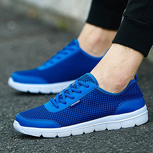 Fashion Summer Breathable Mesh Men Women Cycling Sports Running Quick Dry Casual Couple Shoes Blue CqwVZjZt