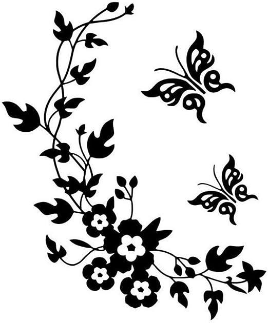 Butterfly Vine Flower Wall Art Stickers Decals 031