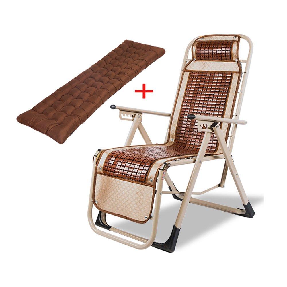 WUPO Klappstuhl - Freizeitstuhl, Büro Mittagspause/Krankenhaus Begleitendes Bett/Angeln Im Freien Strand Campingstuhl, Matte Bambus Stuhl, Gewicht 150kg