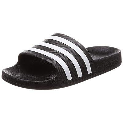 adidas Adilette Aqua Mens Pool Flip Flop Slide Sandal Black/White - UK 8   Sandals