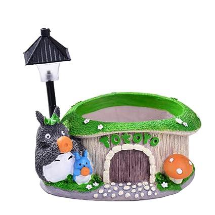 92bca8cad5df Amazon.com  YOURNELO Miyazaki Hayao Totoro Lighting Plant Flower Pot ...