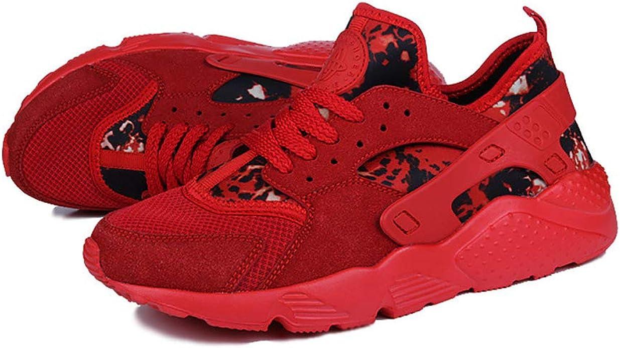 Zapatos de Hombre Zapatos Ligeros para Correr Bajos Mallas Transpirables Zapatillas Deportivas Tejidas voladoras Rubor para Hombres 46: Amazon.es: Zapatos y complementos