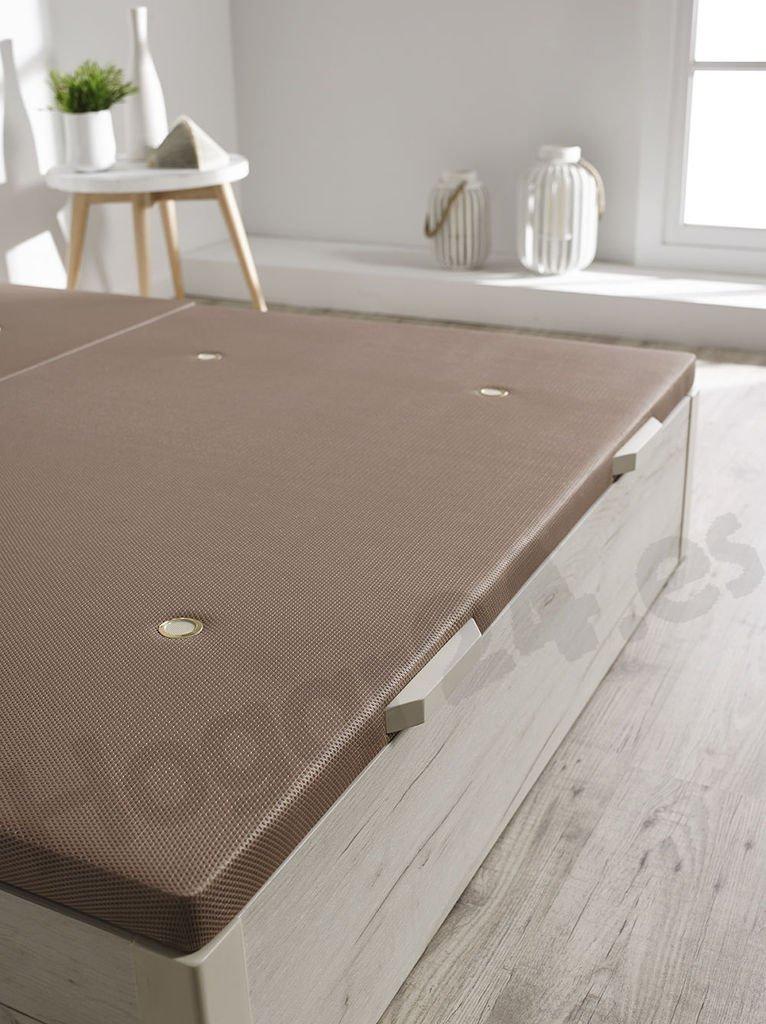 HOGAR24 ES Canapé Abatible de Madera de Gran Capacidad Tapa 3D Transpirable, Color Blanco Vintage, 150x190cm: Amazon.es: Juguetes y juegos