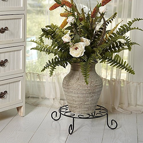 Amagabeli 10 inch metal potted plant stand rustproof iron art import it all - Steel pot plant stands ...