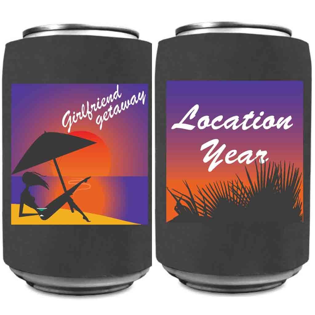 Custom Girlfriend Getaway Can Coolers 12-16oz Can or Bottles Great Girlfriend Getaways (48)