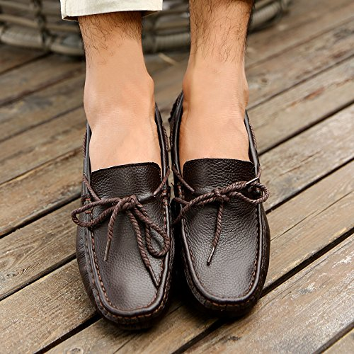 Abby 2089 New Mens Mocassini Casual Eleganti Slip-on Mocassini Alla Moda Scarpe Da Guida Marrone
