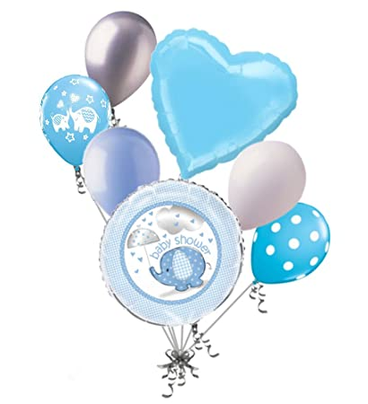 Amazon 7 Pc Umbrella Boy Elephant Baby Shower Balloon Bouquet
