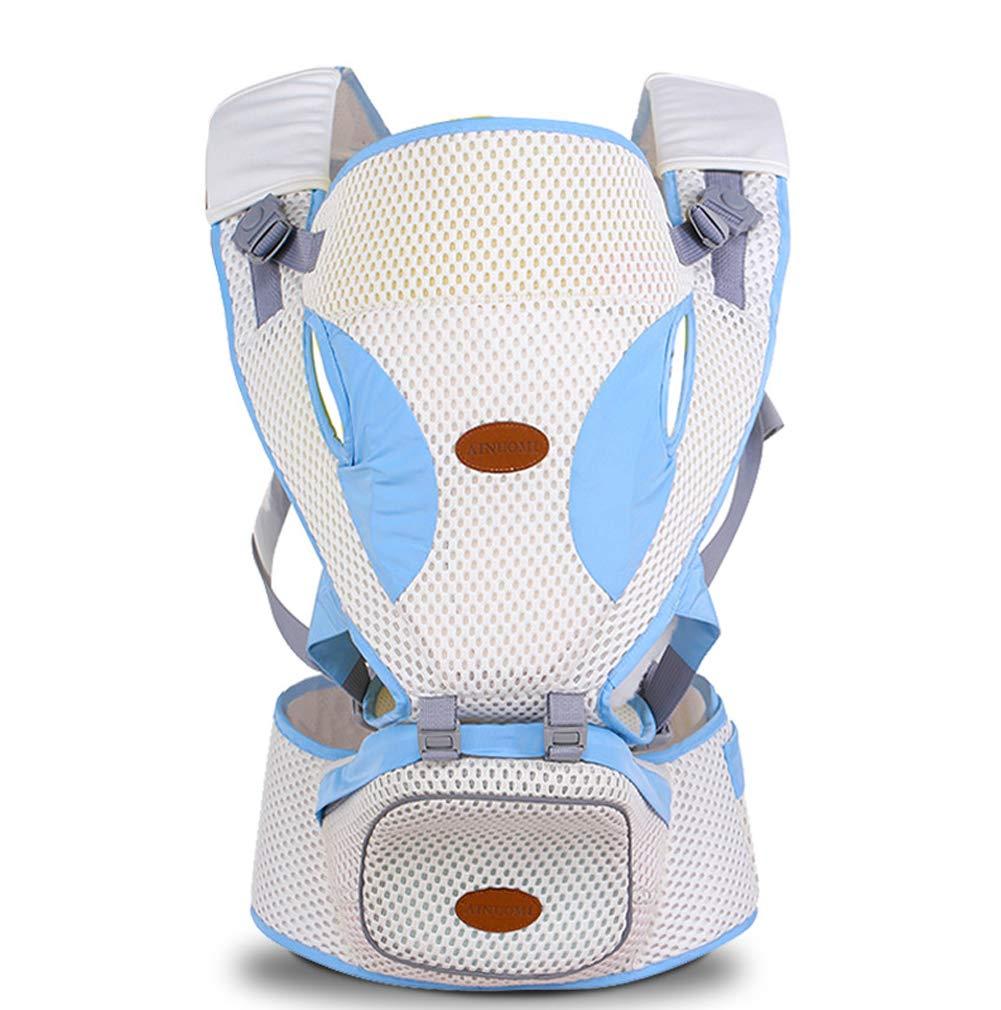 Babyträger mit Hüftsitz und Baby-Windel Beutel 2-in-1.360 ° Ergonomisch Komfortabel 35 °,Blau