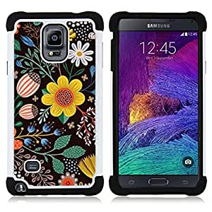 For Samsung Galaxy Note 4 SM-N910 N910 - black drawing painting clean Dual Layer caso de Shell HUELGA Impacto pata de cabra con im??genes gr??ficas Steam - Funny Shop -