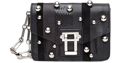 Proenza Schouler Hava Black Studded Clutch  Handbags  Amazon.com 16614e707aedf