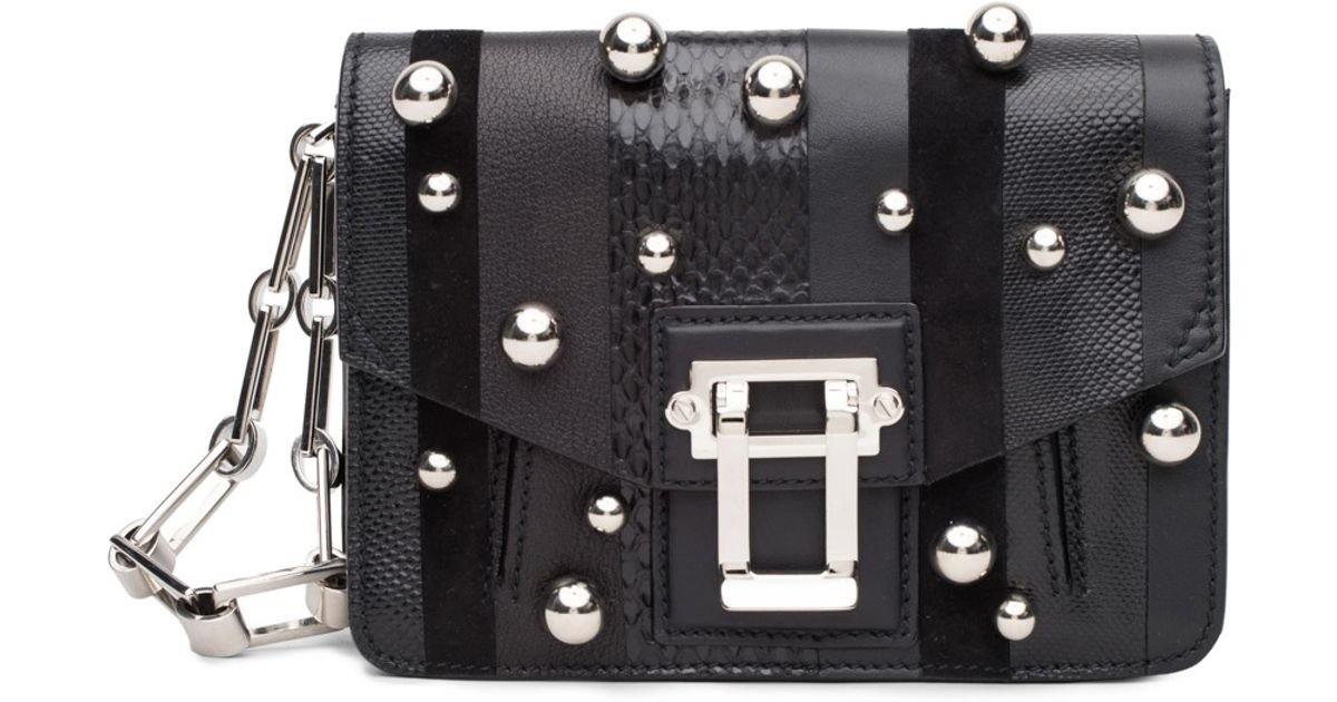Proenza Schouler Hava Black Studded Clutch by Pronza Schouler