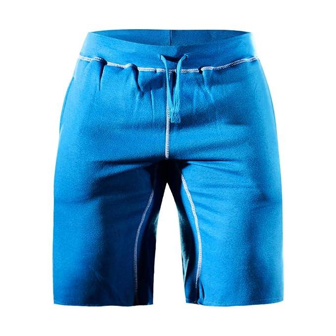 VECDY Hosen Herren Lange Freizeithosen für Männer Beiläufiger Sport der Art- und Weisemänner der elastische Taillen Kurzschlu