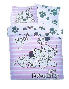 9c8f4e09d3bf sous Licence Primark Neuf Disney Dalmatien 101 Seul Jeu de Housse de  Couette Double, Blanc