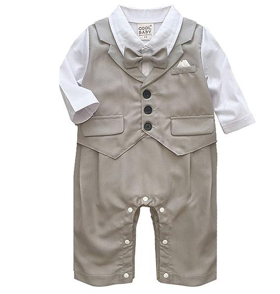 KiwiTwo ropa para bebés de esmoquin para los bebés varones mamelucos de la  ropa del cuerpo a1d170c1cb5