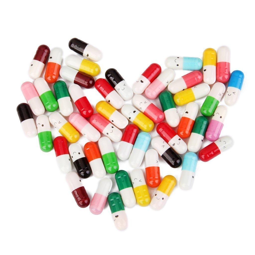 Random Colour DierCosy 50 Pcs Message in a Bottle Capsule Letter Cute Love Friendship Color Pill Gift