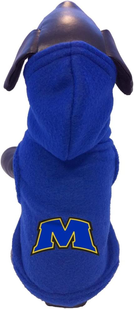 NCAA Morehead State Eagles Polar Fleece Hooded Dog Jacket