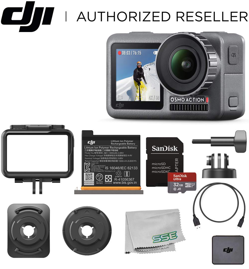 DJI Osmo Action 4K HDR Waterproof Camera Beginners Bundle
