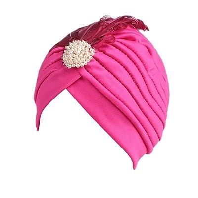 Hatop Children Baby Feather Turban Cap Beanie Hat Head Scarf Wrap