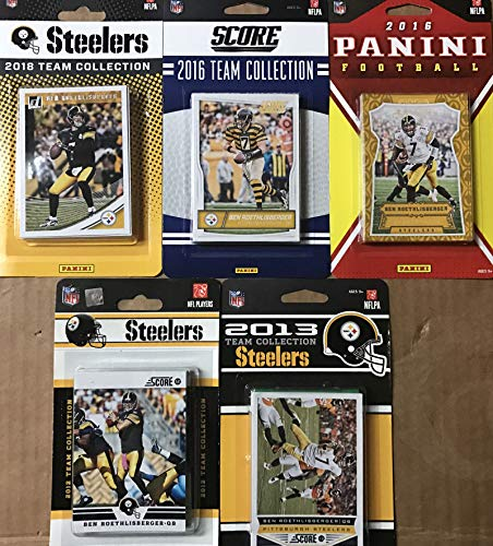 - Pittsburgh Steelers 5 Factory Sealed Team Set Gift Lot Including 2018 Donruss, 2016 Panini, 2015 Score, 2013 Score and 2012 Score Team Sets with Ben Roethlisberger, Terry Bradshaw, LeVeon Bell and Antonio Brown Cards Plus