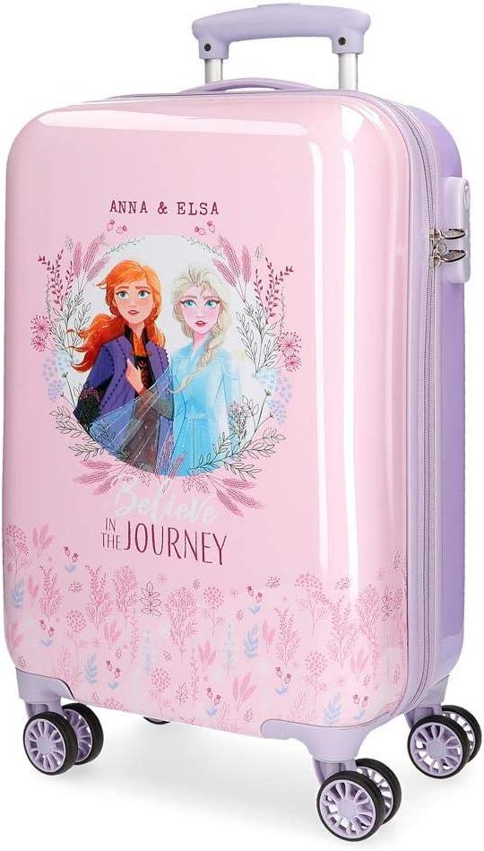 Disney Maleta de Cabina Frozen II Rígida 55 cm, Color Morado