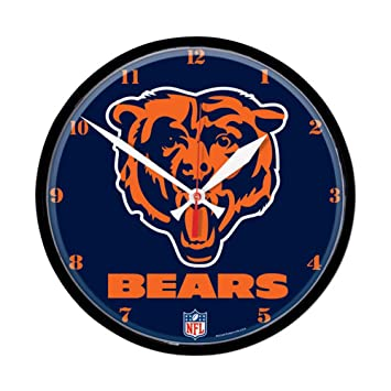 Amazon.com: Chicago Bears Logo Wall Clock: Home & Kitchen