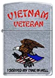 Vietnam Veteran ~ I Served My Time ~ Chrome Zippo Lighter
