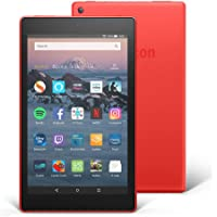 "All-New Fire HD 8 Tablet with Alexa, 8"" HD Display, 16 GB, Red - with Special Offers"