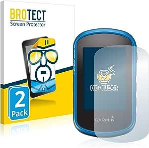BROTECT Protector Pantalla Compatible con Garmin eTrex Touch 35 Protector Transparente (2 Unidades) Anti-Huellas
