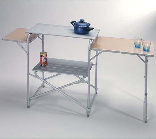 H-Collection Camping de plástico de Cocina Luzern 2 repisas ...