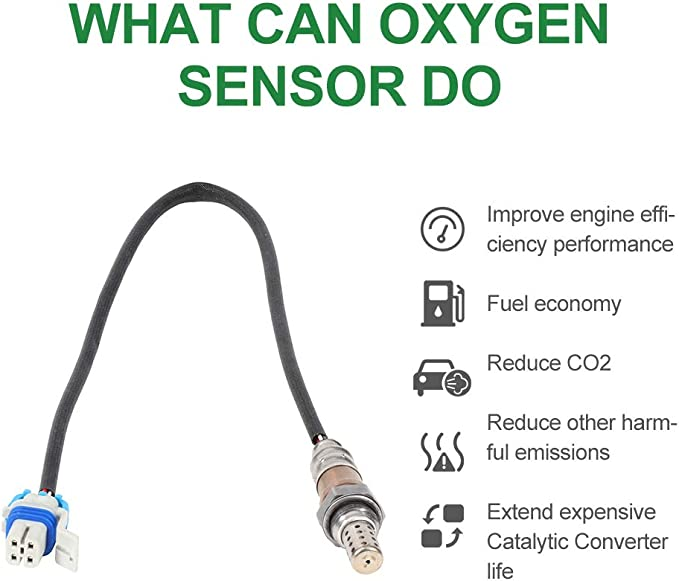 2 Downstream fit 2000-2002 GMC Chevy Yukon Tahoe Sierra Silverado 5.3L SCITOO Oxygen Sensor 250-24470 2 Upstream