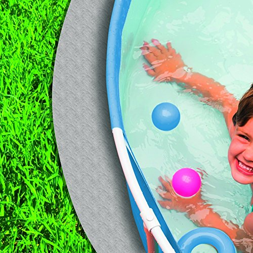 Vellón redondo PP de piscina, 140 g/m², gris: Amazon.es: Jardín