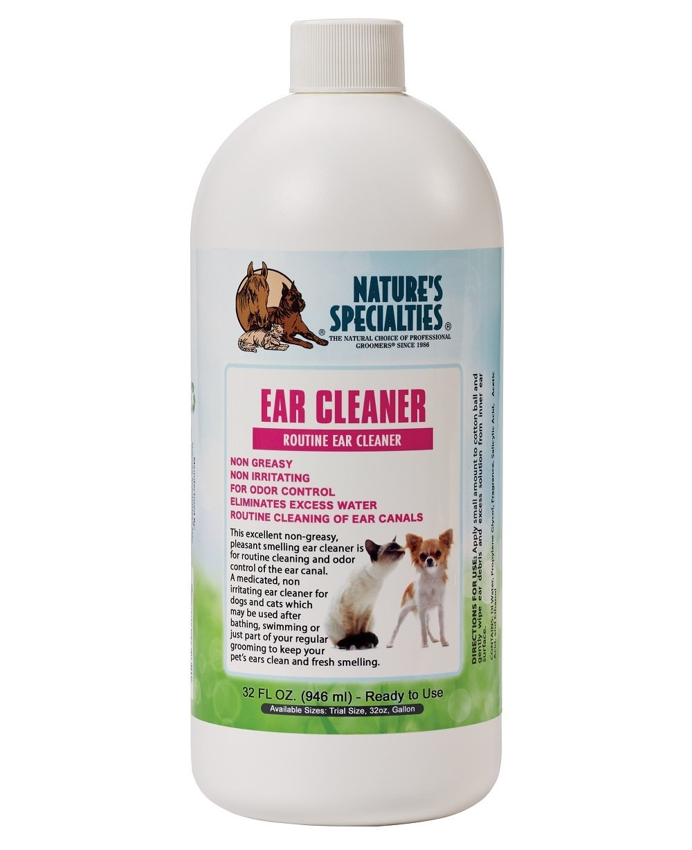 Nature's Specialties Dog Ear Cleaner, 32-Ounce