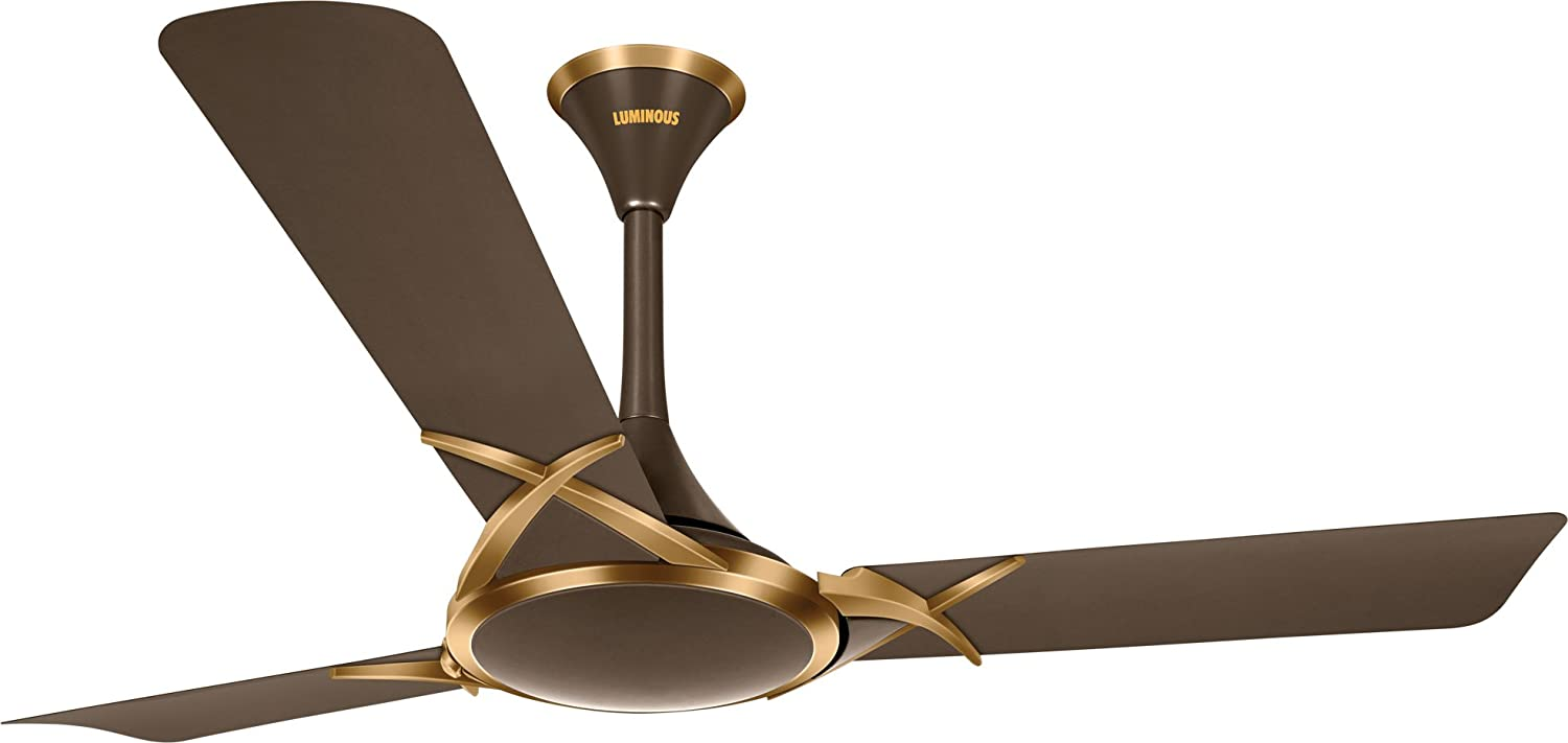 Luminous Deco Premium Deltoid 1200mm Ceiling Fan (Expresso Gold)